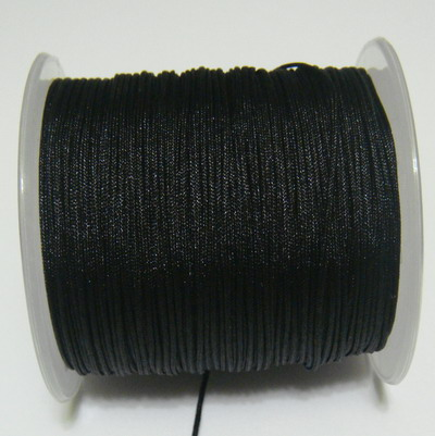 Snur matasos pentru bratari shamballa, negru, grosime 0.8mm 5 m