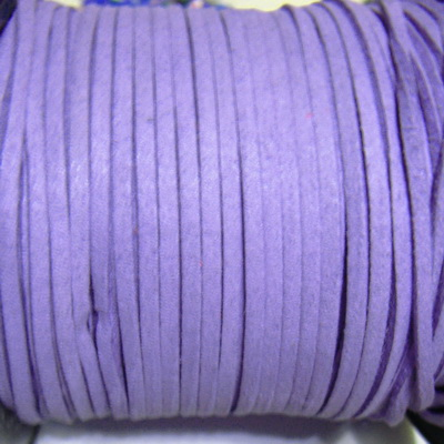 Snur faux suede, mov, grosime 3x1.5mm 1 m