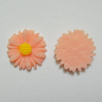 Aplice plastic roz, floare 14mm 1 buc
