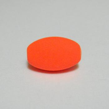 Margele plastic cauciucate portocaliu-fosforescent, 13x9mm 1 buc