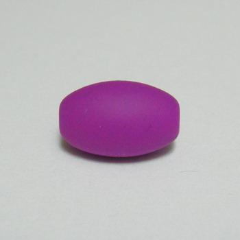 Margele plastic cauciucate violet, 13x9mm 1 buc