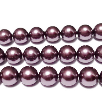 Perle stil Mallorca, violet, 10mm 1 buc
