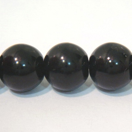 Perle sticla negre 14mm 1 buc