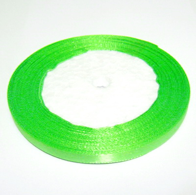 Saten verde-lime 7mm 1 rola 25 m