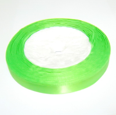 Saten verde-lime, 10mm 1 rola 22 m