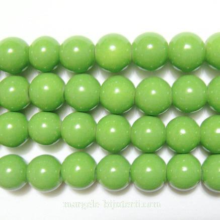 Margele sticla rotunde verzi- 8mm 10 buc