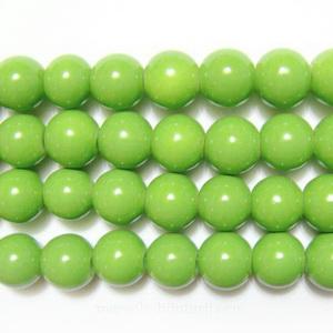 Margele sticla rotunde verzi-10mm 10 buc