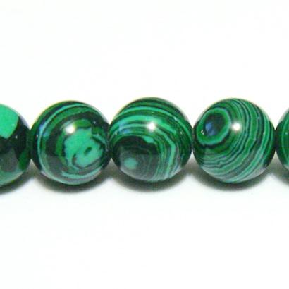 Malachit de sinteza, sferic, verde, 10mm 1 buc