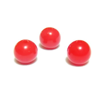 Margele plastic rosu, 8mm 10 buc