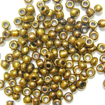 Margele nisip maro-auriu, opace, sidefate, 2mm 20 g