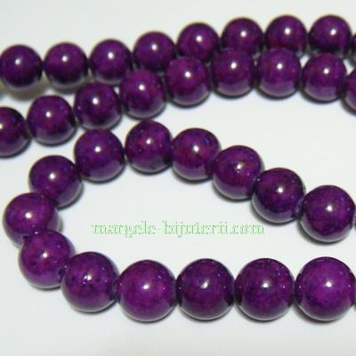 Jad vopsit violet, 8mm 1 buc