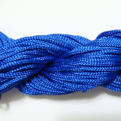 Snur matasos pentru bratari shamballa, albastru, 1mm 1 scul 26 m