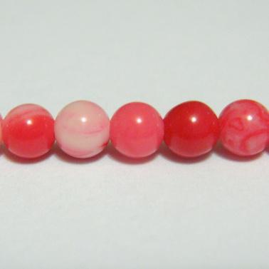 Perle sidef roz, sferic, 4.3mm 1 buc