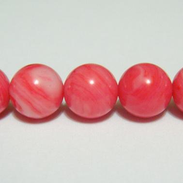 Perle sidef roz, sferic, 6.3mm 1 buc