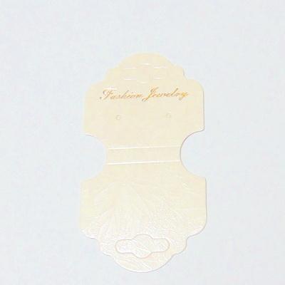 Etichete carton crem, pt bijuterii, 10x5.5cm 10 buc