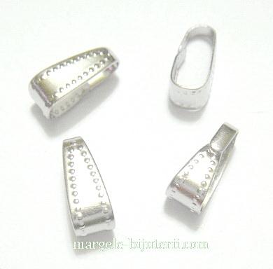 Accesorii pandantiv, argintii, 11x4.5mm 10 buc