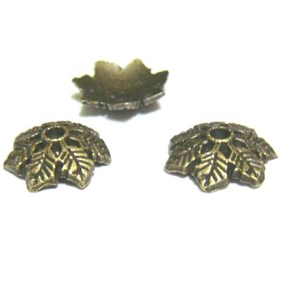 Capacele bronz cu 7 frunzulite, 15x4mm 1 buc
