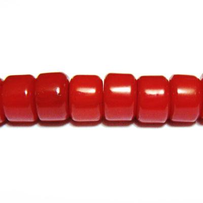 Coral rosu tubular, 6x4mm 1 buc