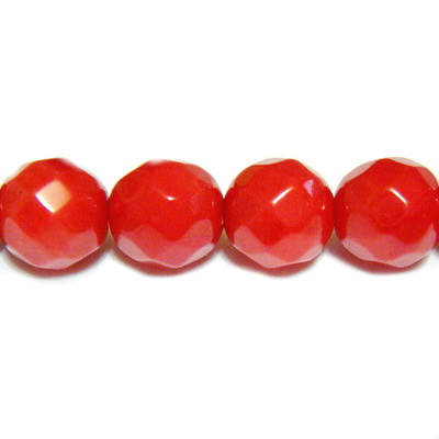 Coral rosu, multifete, 6.4mm 1 buc