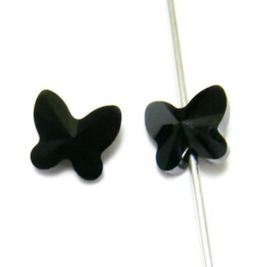 Swarovski Elements, Butterfly 5754-Jet, 6 mm 1 buc