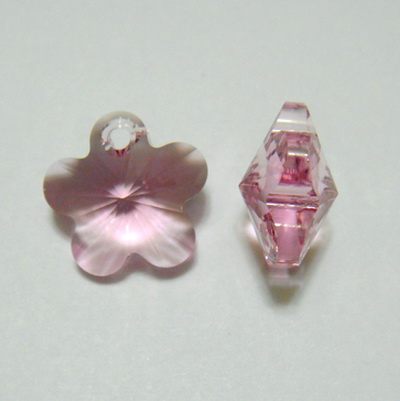 Swarovski Elements, Flower 6744-Light Rose, 12mm 1 buc