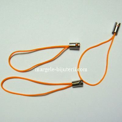 Snururi breloc portocalii, 5cm 10 buc