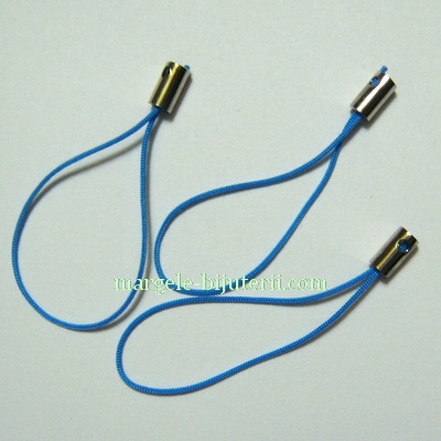 Snururi breloc bleu, 5cm 10 buc