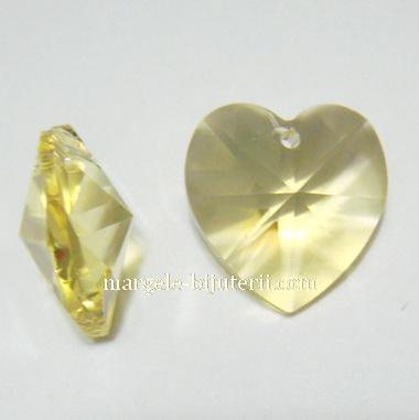Swarovski Elements, Heart 6202-Jonquil, 14.4x14mm 1 buc