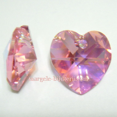 Swarovski Elements, Heart 6202-Light Rose AB, 14.4x14mm 1 buc