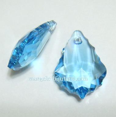 Swarovski Elements, Baroque 6090-Aquamarine, 22x15mm 1 buc