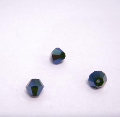 Margele biconice cristal, negru-hematit, 4mm 1 buc