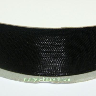 Panglica organza neagra, 2 cm 1 rola 50 m