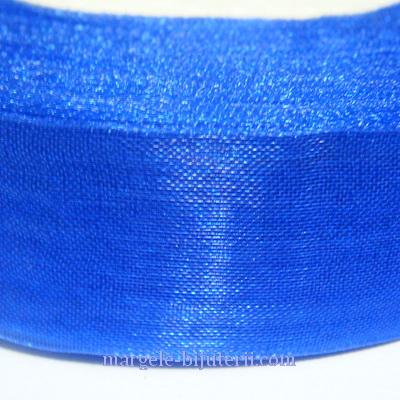 Panglica organza albastra, 2 cm 1 rola 50 m