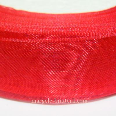 Panglica organza rosie, 2 cm 1 rola 50 m