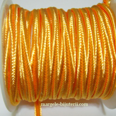 Snur Soutachee portocaliu, latime 2.5mm 1 rola 4 m