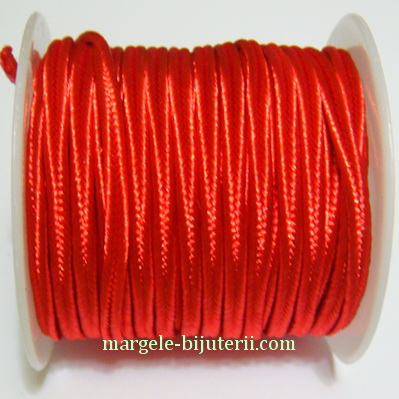 Snur Soutachee rosu, latime 2.5mm 1 rola 4 m