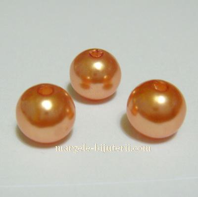 Perle plastic  aurii, 8mm 10 buc