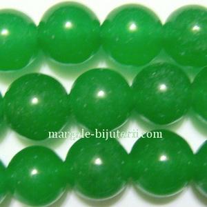 Jad translucid, verde, 10mm 1 buc