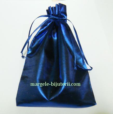 Saculet metalizat albastru, 15x12.5 cm 1 buc