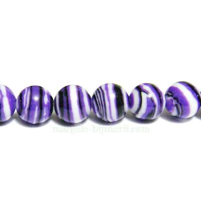 Compozit violet-alb-negru, sferic, 6mm 1 buc