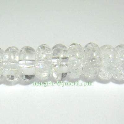 Cristal de gheata, rondel, 10x5mm 1 buc