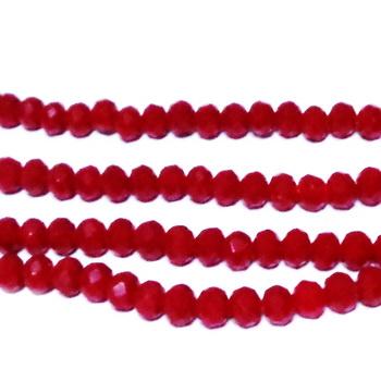 Margele sticla biconice, rosii, 6x3.6mm 10 buc