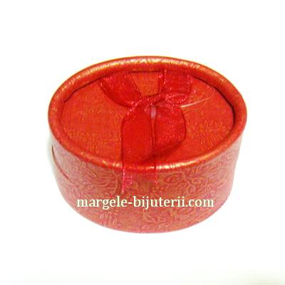 Cutie cadou, rosie, ovala, 60x45x35mm 1 buc