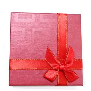 Cutie cadou rosie, 8.5 x 8.5x2.5 cm 1 buc