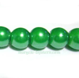 Perle sticla, verzi, 6mm 10 buc