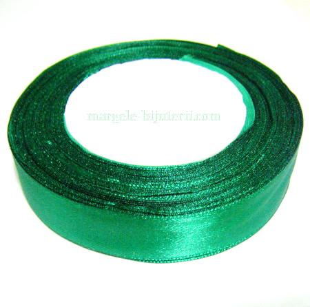 Saten verde, 20 mm 1 rola 22 m
