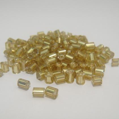 Margele tubulare aurii 3mm 20 g