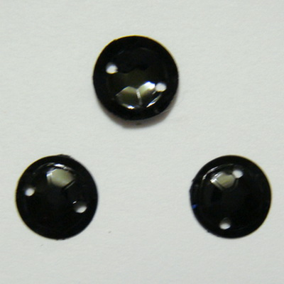Paiete convexe, negre, 8mm, 1.1 grame(aproximativ 50 buc) 1 buc