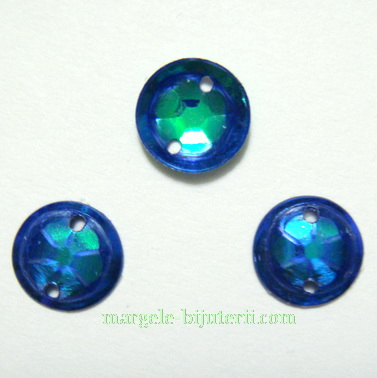 Paiete convexe, albastre, 8mm - aprox 50 buc 1 g