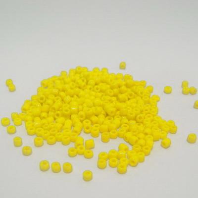 Margele nisip, galbene, opace, 2mm 20 g